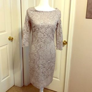 Silver lace dress size 10/12
